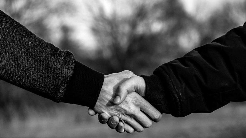 Poignée de main: le flair de l'homme