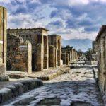 Image au coeur de la ville de Pompéi, au sud de l'Italie